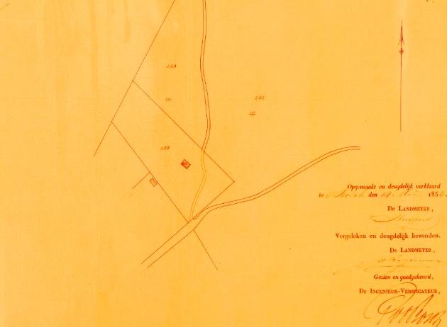 Kaart uit 1853